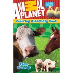 Animal Planet Educational Coloring & Activity Book With Stickers ~ Farm Friends! (5.25