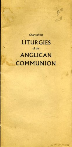 CHART OF THE LITURGIES OF THE ANGLICAN COMMUNION par Mothers Union (publisher)