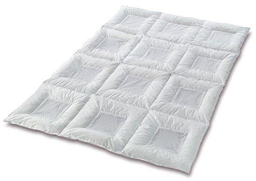 Zudecke, Baumwolle, Weiß, 135 x 200 cm