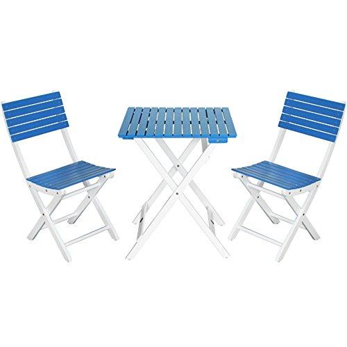 com-four® Balkon Sitzgruppe, schöne Gartenmöbel aus Akazienholz