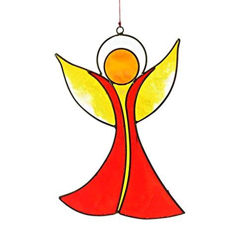 CRISTALICA Fensterschmuck Windspiel Suncatcher Engel Mehrfarbig 17 cm -