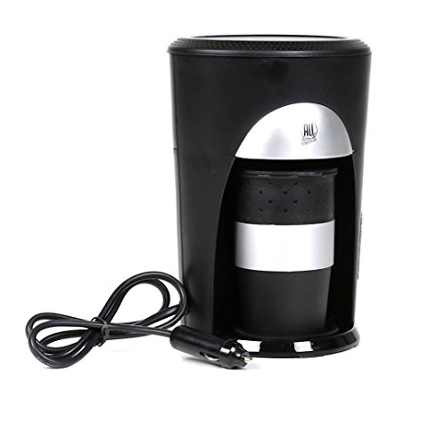 Preisvergleich Produktbild Kaffeepadmaschine für 1 Tasse inkl. Becher mit Deckel, 12V 170W