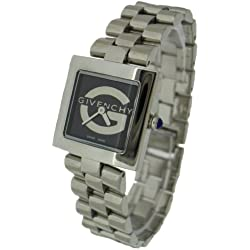 GVA-ALAG-3 - Givenchy Amalgam, Square Stainless Steel Case and Bracelet with Black G Dial