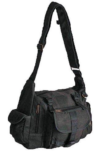 New York Cross Body Messenger Leinen Schulter Tasche Grau (Aus York New Leder Echtem)
