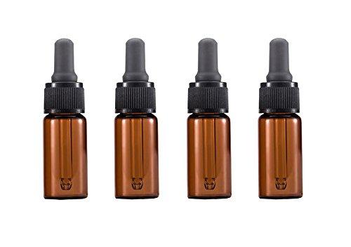 6Bernstein Glas Dropper Flaschen mit grau Dropper cap-essential Öl Parfüm Make-up Kosmetik eyelquid Vorratsdosen mit Glas Pipette