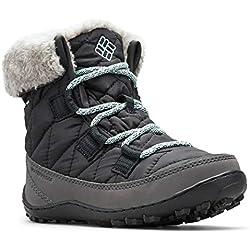 Columbia Minx Shorty Omni-Heat Waterproof, Botas de Nieve para Niñas, Negro Black Spray, 36 EU
