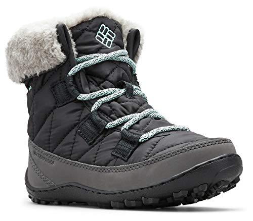 Columbia Minx Shorty Omni-Heat Waterproof, Botas de Nieve para Niñas, Negro Black, Spray, 32 EU