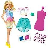 Mattel Barbie frp05Loves Crayola Stamp N Style Bambola e Set da Gioco