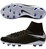 Nike JR HYPERVENOM PHELON 3 DF FG, Schwarz (Black/White-Game Royal), 5Y