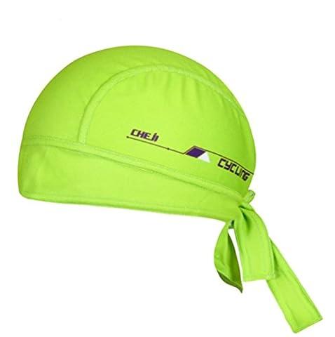 Ksweet Cycling Dew Rag for Men Skull Caps Sweat Beanie Cool Head Wrap Doo Rag Summer Sport Helmet (Green)