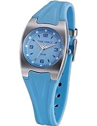 Reloj TIME FORCE para chico/chica. Sumergible. Correa de caucho. Azul. TF-3181B03