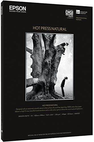 Epson C13S042320 Hot press natural inkjet 330g/m2 A3+ 25 Blatt