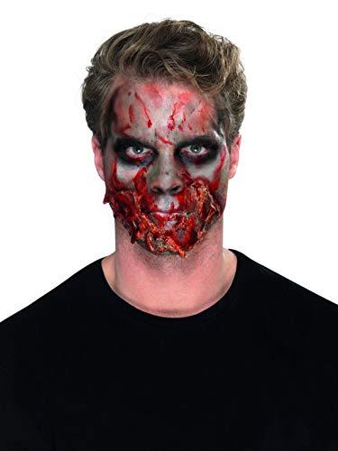 Halloweenia - Damen Herren Horror Zombie Make Up Latex und Schmink Set, Flüssiglatex Schminke und Fake Blut, perfekt für Halloween Karneval und Fasching, Mehrfarbig