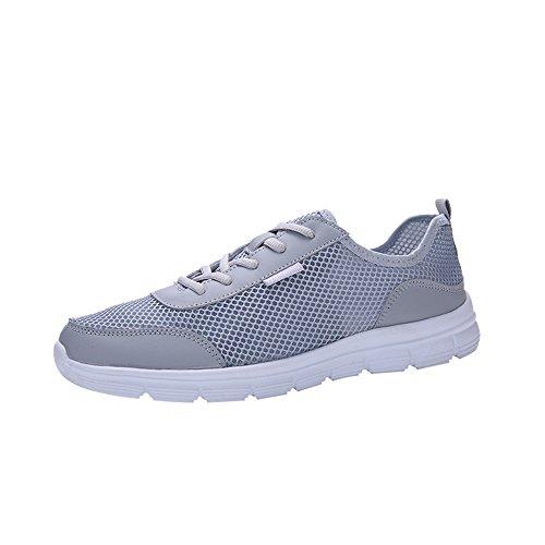 iHENGH Scarpe Running Sport Respirante Pu per Uomo Scarpe Zeppa Lace-Up Breathable Sneakers Estate Nero Shoes Men 2019 Nuovo Ragazzo Moda Casual