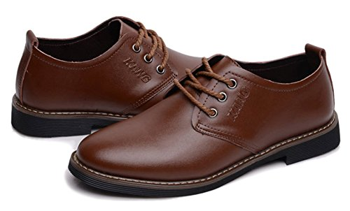 Fangsto  Dress Shoes, Chaussures à lacets homme Deep Brown