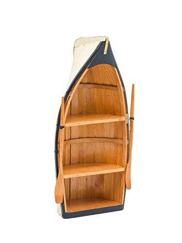 Regal Boot Holz Bootsregal Wandregal Schiff Maritime Deko Schrank 62cm