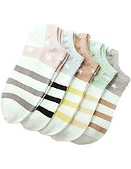 5 paires Installé chaussettes en coton chaussettes mince Mme Summer Furtif Ship