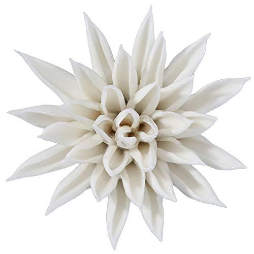 ALYCASO Handarbeit 3D Keramik Blume Wall Decor Seestern Porzellan Skulptur Küche Art Wand 3.74*1.77