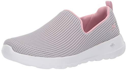Skechers Damen Go Walk Joy-Centerpiece Slip On Sneaker, Grau (Light Grey Pink Lgpk), 40 EU (Skechers Go Walk Schuhe Für Frauen)
