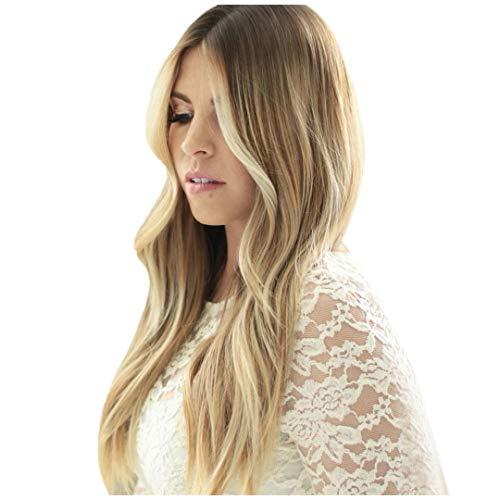 Perruque pour Femme Longue, Solike 70 cm Cheveux Longues Bouclés Perruques Cheveux Ondulés Cheveux Gradient Couleur Perruque Cosplay