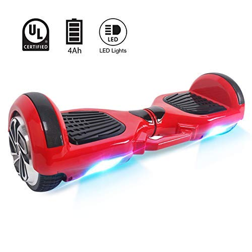 Windgoo & Moovway 6.5' Hoverboard Eléctrico Scooter -Patinete 700W Monopatín Eléctrico Auto-Equilibrio Patín-con LED Luces Balancing