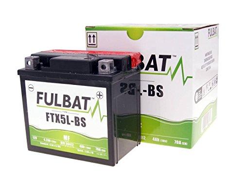 12V Roller Batterie Fulbat - FTX5L-BS MF - YTX5L-BS - Wartungsfrei - 4Ah - für REX, PEUGEOT, YAHMAHA, MBK, KYMCO, DERBI, CPI, BAOTIAN