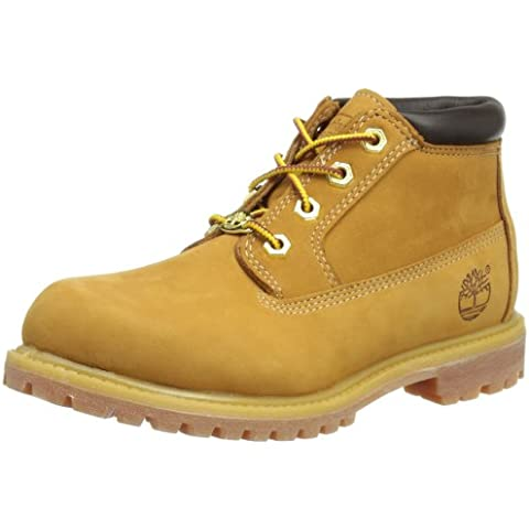Timberland AF NELLIE DBLE WHEAT NBK 23399 - Botas de cuero nobuck para mujer