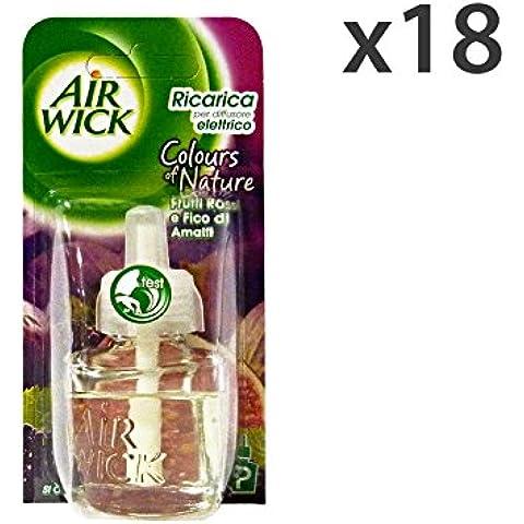 Set 18 AIR WICK Spina Ricarica FRUTTI ROSSI 19 Ml. Candele e Profumatori - Frutta Air