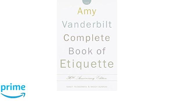 amy vanderbilt complete book of etiquette