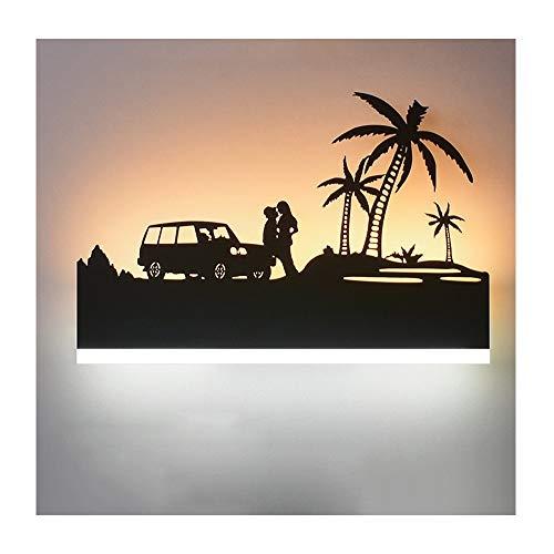 American Vintage Tallado Mural Lámpara de Pared de Hierro Forjado Dormitorio Creativo...