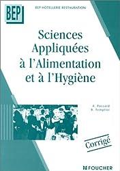 Sciences appliquées à l'alimentation et à l'hygiène : BEP hôtellerie, restauration, corrigé