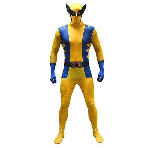 (Morphsuit Marvel Superhelden Kostüm Deadpool Spiderman CPT America Zentai Anzug (Wolverine/XXL))