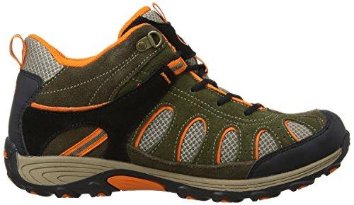 Merrell CHAM MID LC WTPF, Scarponcini da trekking Bambino Multicolore (Olive/Orange)