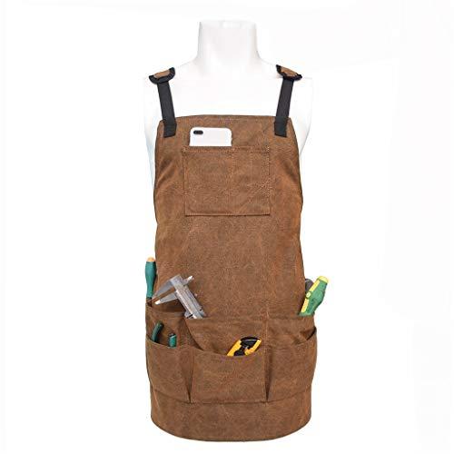 Work Shop delantal herramienta bolsillos Heavy Duty
