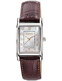 Dugena Damen-Armbanduhr Quadra Artdeco - Traditional Classic Analog Quarz Leder 7000162