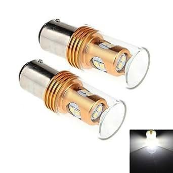 PRO lIGHT- 2pcs 1157 / ba15d 8w 8x2323smd 450lm 6000k lumière blanche LED pour voiture tour direction / feu de recul (dc 12-24v)