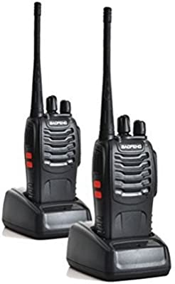 Baofeng BF-888S UHF 400-470 MHz CTCSS / DCS Alta Iluminación Linterna con Auricular de mano Amateur Radio Walkie Talkie Negro