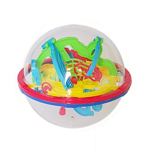 DDG EDMMS Maze coloré Intelligence Jeu de Balle 3D Balle avec 100 Défi Barrière Labyrinthe pour Enfants Boule Jouets éducatifs