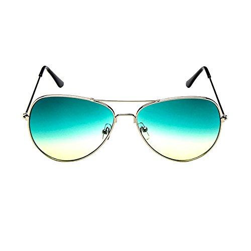 Honestyi Mens Womens Retro Fashion verspiegelte Gläser polarisierte Sonnenbrillen Brillen Gradient Spiegel Sonnenbrille Brille # 3025