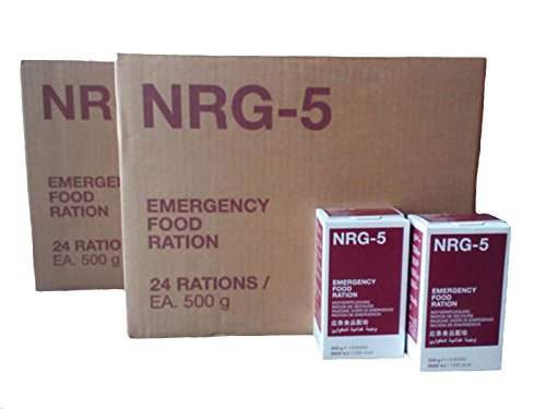 Notverpflegung, NRG-5, 2 Kartons mit 48 Packungen a 500 g, Notration, Langzeitnahrung