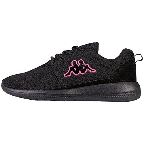 Kappa Damen Speed II OC Sneaker, Schwarz (1122 Black/Pink), 36 EU
