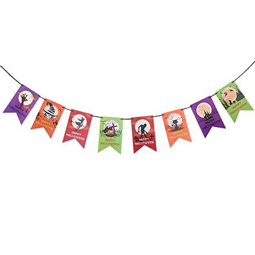 een Party Banner Trick Or Treat Streamer Dekoration für House Party Bar Dekor Foto Prop (Trick Or Treat-banner)