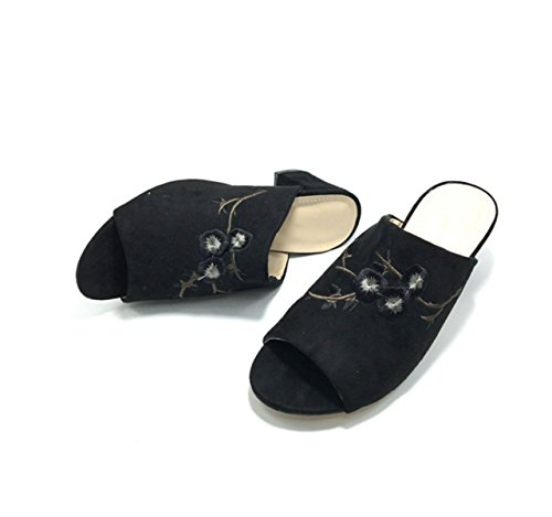 Sandales Mme Pantoufles Sandales Occasionnels Black