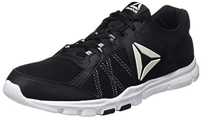 Reebok Yourflex Train 9.0 MT, Chaussures de Fitness Homme, Gris (Flint Grey/Electric Flash/Black/White/Pewter), 41 EU