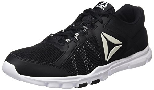 Reebok Herren Yourflex Train 9.0 MT Fitnessschuhe Schwarz (Black/White/Skull Grey), 43 EU