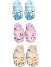 Mahi Fashion Baby Boy Girl Booties Combo of 3 (6-12 Months)