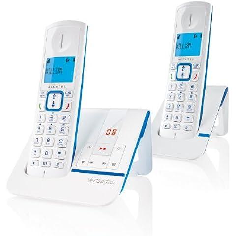 Alcatel Versatis F230 Voice Duo - 2 teléfonos fijos digitales inalámbricos, color azul [Importado de Francia]