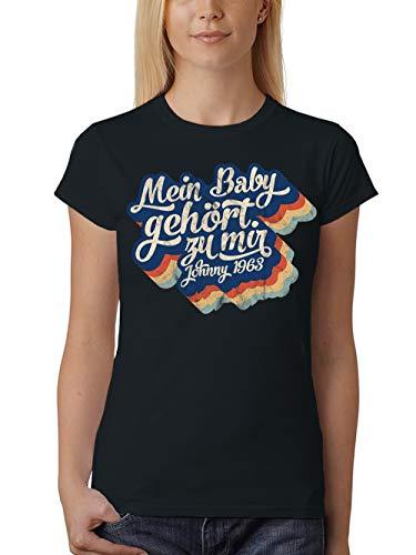 clothinx Damen T-Shirt Unisex Mein Baby gehört zu Mir Schwarz Gr. 3XL (Night Saturday Fever-shirt)