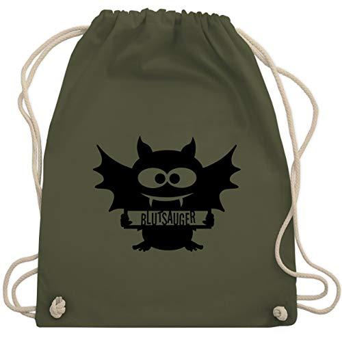 Halloween - Fledermaus - Unisize - Olivgrün - WM110 - Turnbeutel & Gym Bag