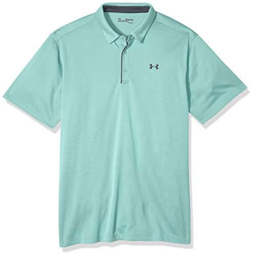 Under Armour Herren atmungsaktives Poloshirt, Komfortables und kurzärmliges Sportshirt mit Loser Passform Tech Polo, Neo Turquoise (361), X-Large Tall (Armour-xl-tall Under)